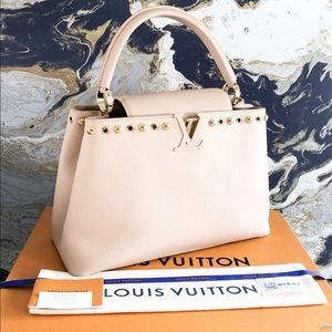 Louis Vuitton Capucines MM Studded Taurillon Tote
